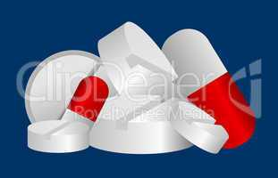 pillen, tabletten und kapseln