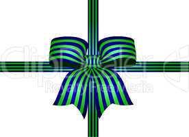 blaue schleife mit grünen streifen