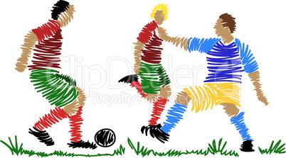Fußballspiel abstrakt