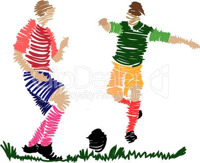 Fußball zweikampf