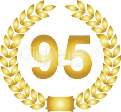 lorbeerkranz gold 95