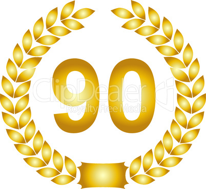 goldener lorbeerkranz 90 jahre: Lizenzfreie Bilder und Fotos