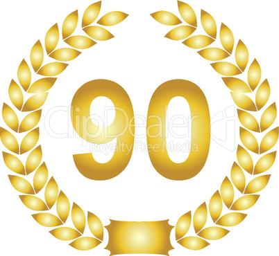 lorbeerkranz gold 90