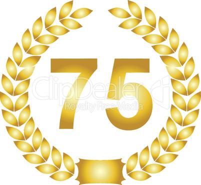 lorbeerkranz gold 75