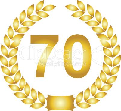lorbeerkranz gold 70