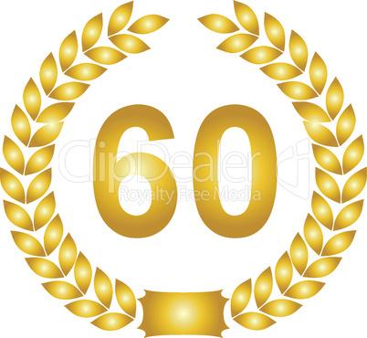 lorbeerkranz gold 60