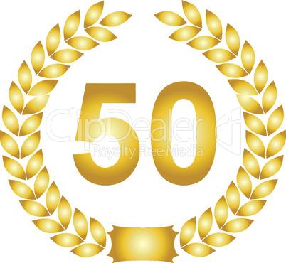 lorbeerkranz gold 50