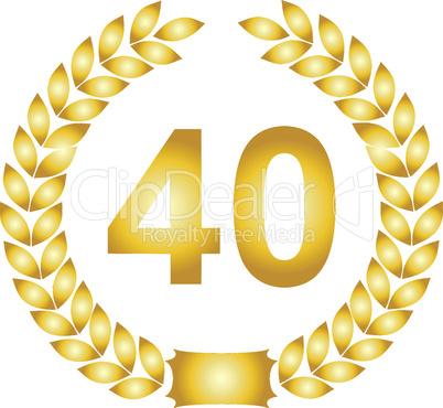 lorbeerkranz gold 40