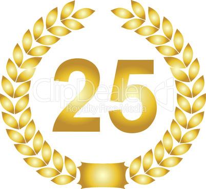 lorbeerkranz gold 25