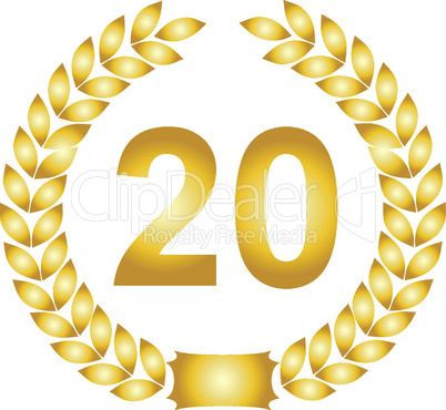 lorbeerkranz gold 20