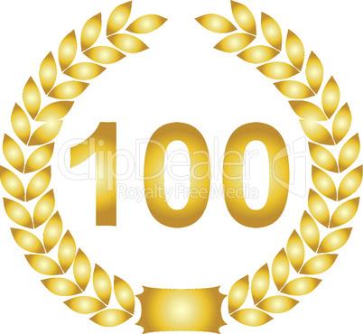 lorbeerkranz gold 100