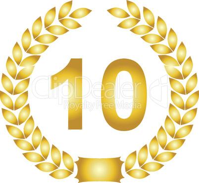 lorbeerkranz gold 10