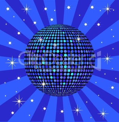 Discokugel blau