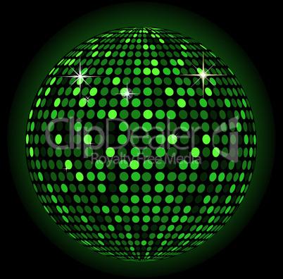 Discokugel grün