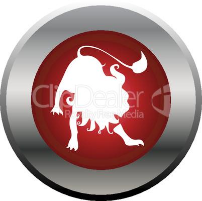 Sternzeichen Button Löwe