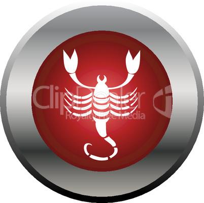 Sternzeichen Button Skorpion
