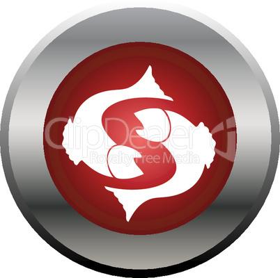 Sternzeichen Button Fische