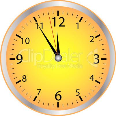 5-vor-12 Uhr gelb
