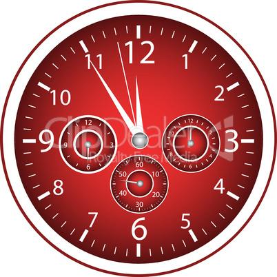 5-vor-12 Uhr rot