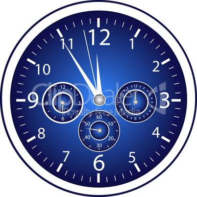 5-vor-12 Uhr blau