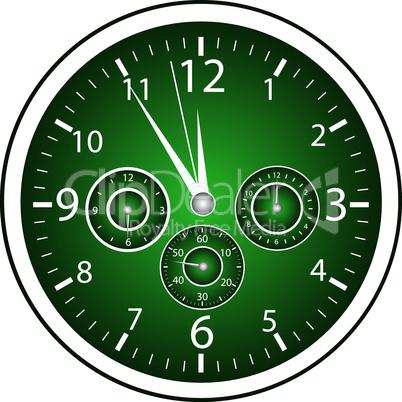 5-vor-12 Uhr grün