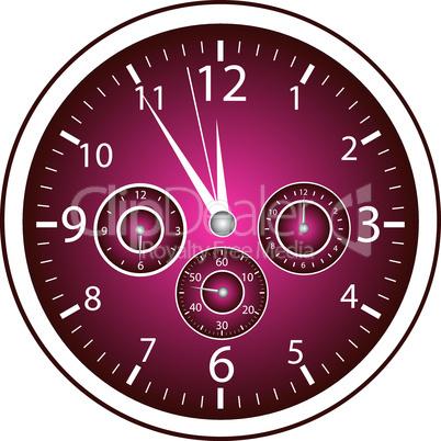 5-vor-12 Uhr violett