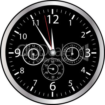 5-vor-12 Uhr schwarz
