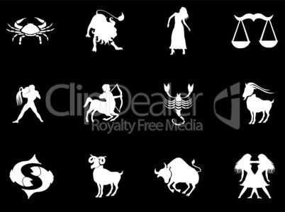 Sternzeichen Satz silhouetten