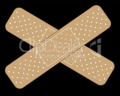 Kreuz aus Wundpflaster