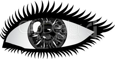Auge Pupille schwarz