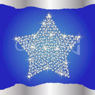 Weihnachtshintergrund blau