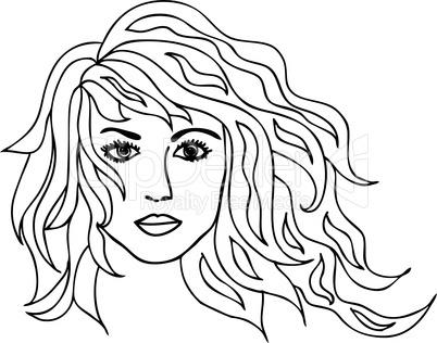 Frau Porträt Illustration