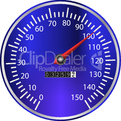 Tachometer blau