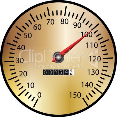 Tachometer gold