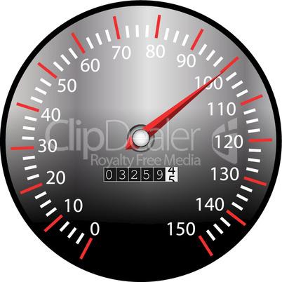 Tachometer schwarz