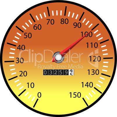 Tachometer orange