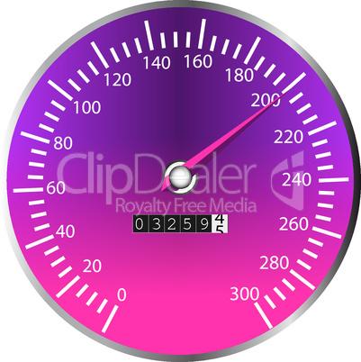 Tachometer violett