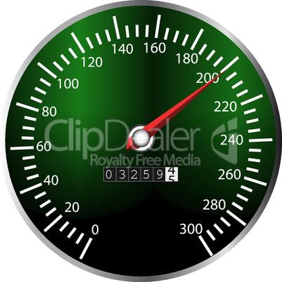 Tachometer grün