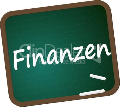 Schultafel Finanzen