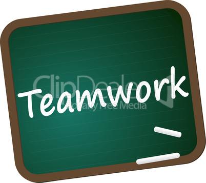 Schultafel Teamwork