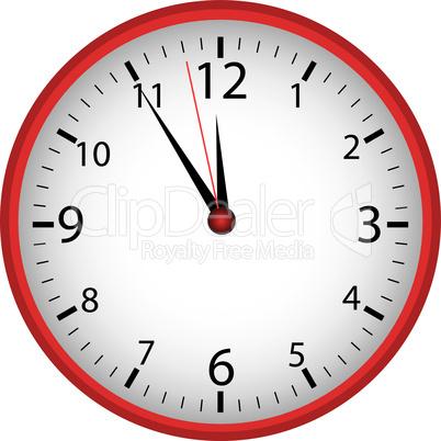 5-vor-12 Uhr weiß-rot
