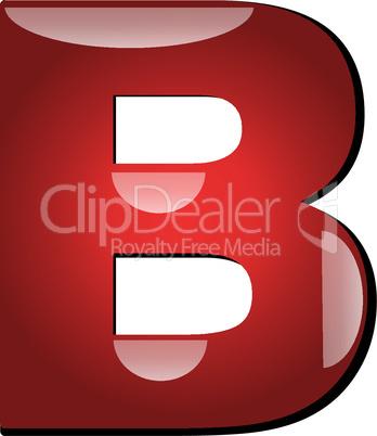 3D Buchstabe B