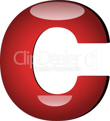 3D Buchstabe C