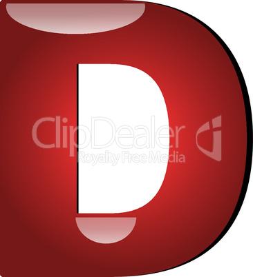 3D Buchstabe D