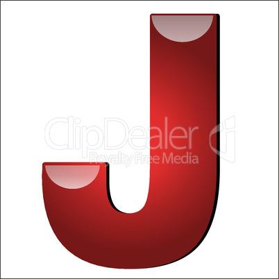 3D Buchstabe J