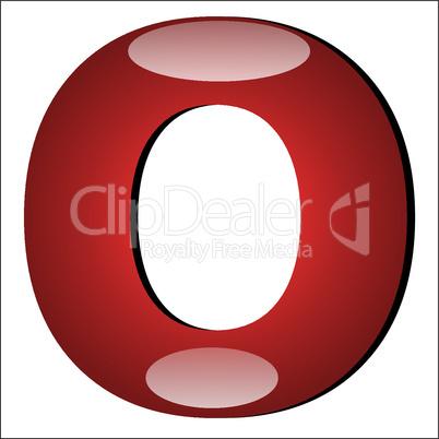3D Buchstabe O