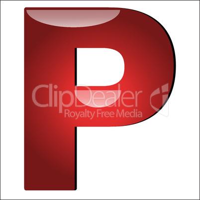 3D Buchstabe P