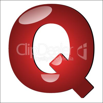 3D Buchstabe Q