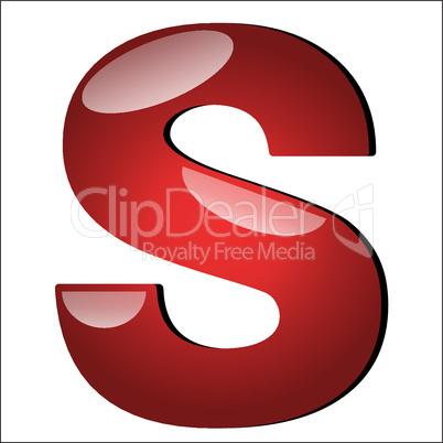 3D Buchstabe S