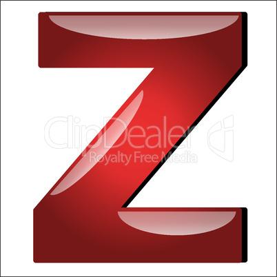 3D Buchstabe Z
